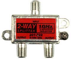 Steren 201-222 - 1GHz 130dB Coax Splitter - 2-Way