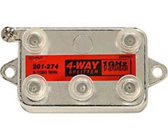 Steren 201-274 - 1GHz 130dB 4-way Vertical Splitter