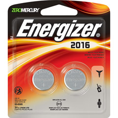 Energizer 2016BP-2 - 3V Lithium Button Cell Battery Retail Pack - 2-Pack