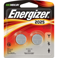 Energizer 2025BP-2 - 3V Lithium Button Cell Battery Retail Pack - 2-Pack