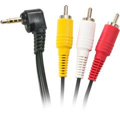 Steren 255-219 - 6' 3.5mm To 3 AV Camcorder Cable