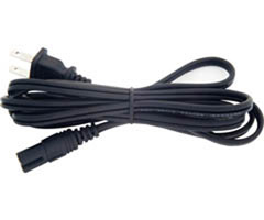 Steren 505-390 - 6' UL Replacement AC Power Cord - Non-Polarized