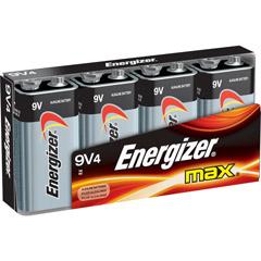 Energizer 522FP-4 - 9V Alkaline Battery Bulk Pack - 4-Pack