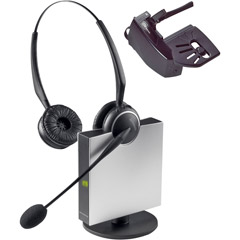 Jabra 9129-808-215 - Wireless Flexboom Duo Headset with Noise Canceling Microphone