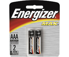 Energizer AAA2 ENERGIZER - AAA Alkaline Battery Retail Pack - 2-Pack