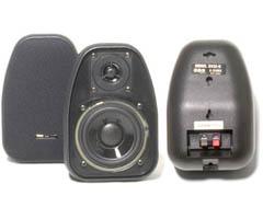 "BIC America DV-32B - 3 1/2"" 125-Watt 2-Way Compact Shielded Speakers"