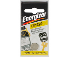 Energizer ECR-1220BP - 3V Lithium Button Cell Battery Retail Pack - Single