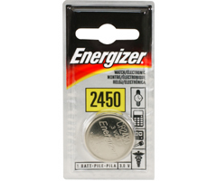Energizer ECR-2450BP - 3V Lithium Button Cell Battery Retail Pack - Single