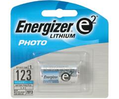 Energizer EL-123 - CR123 Advanced Photo Lithium Battery Retail Pack - Single