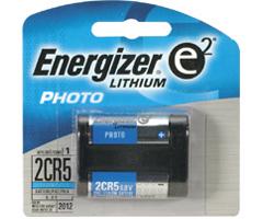 Energizer EL-2CR5 - 2CR5 Advanced Photo Lithium Battery Retail Pack - Single