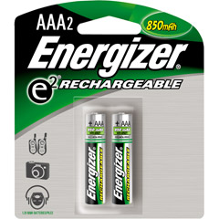 Energizer AAANH2ENERGIZER - AAA Rechargeable NiMH Battery Retail Pack, 900mAh - 2 Pack