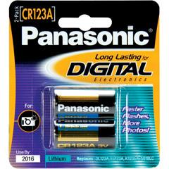 Panasonic CR-123APA/2B - CR-123 Photo Lithium Battery Retail Pack- 2 Pack