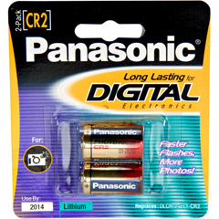 Panasonic CR-2PA/2B - CR-2 Photo Lithium Battery Retail Pack - 2 Pack