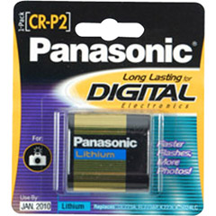 Panasonic CR-P2PA/1B - CR-P2 Photo Lithium Battery Retail Pack - Single