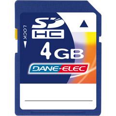 Dane-Elec DA-SD-4096-R - 4GB SDHC® Memory Card