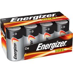 Energizer E95FP-8 - D Cell Alkaline Battery Bulk Pack - 8-Pack