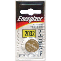 Energizer ECR-2032BP - 3V Lithium Button Cell Battery Retail Pack - Single