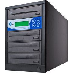 EZ Dupe EZD3TDVDLGB - 3-Target DVD/CD Duplicator with LG Drives