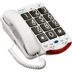 Clarity JV-35B - Amplified Corded Telephone with ®Talk Back® and Braille Characters