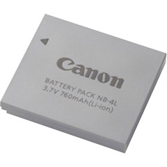 Canon NB-4L - NB-4L Lithium Ion Battery - 760mAh