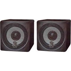 Pyle PCB3BK - 3'' 100-Watt Mini Cube Speaker - Black