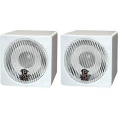Pyle PCB3WT - 3'' 100-Watt Mini Cube Speaker - White