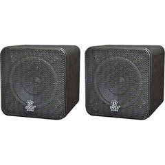 Pyle PCB4BK - 4'' 200-Watt Mini Cube Speaker - Black
