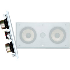 "Pyle PDIWCS56 - Dual 5.25"" 300-Watt 2-Way In-Wall LCR Speaker - White"