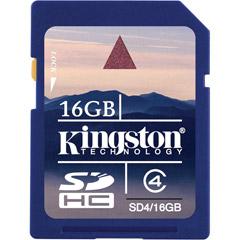 Kingston SD4/16GB - 16GB SDHC® Memory Card Class 4